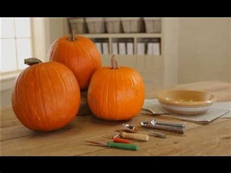 pumpkin carving tips how to clean out a pumpkin youtube