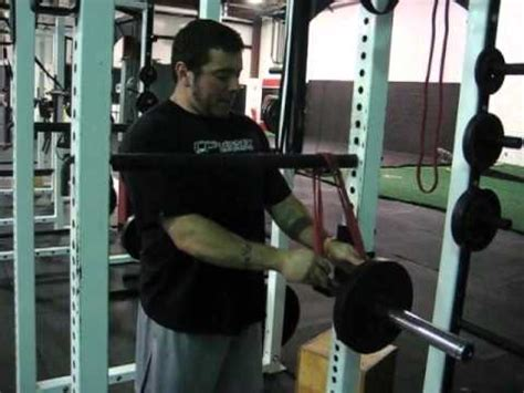 reverse band bench press ericcressey com reverse band bench press set up youtube