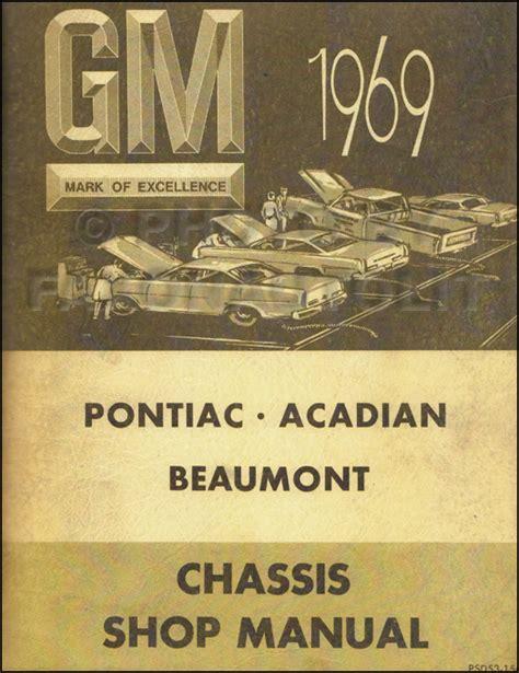 1969 pontiac chassis service manual firebird lemans grand 1969 pontiac body repair shop manual original firebird gto tempest lemans catalina bonneville