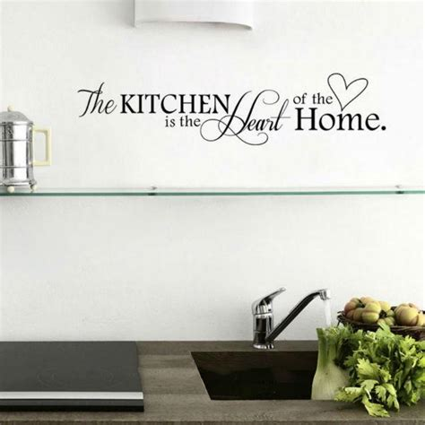 The Kitchen Is The Of The Home by The Kitchen Is The Of The Home Quotes Wall Decal