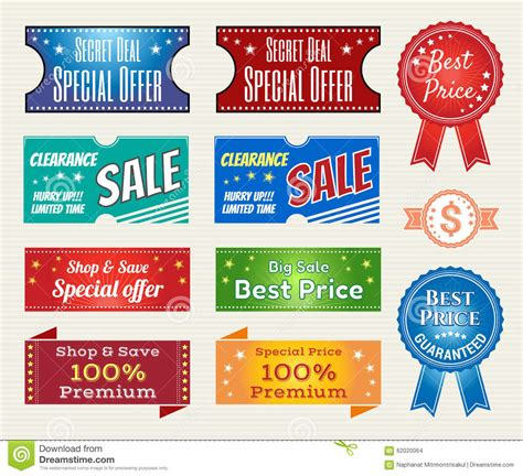 Stiker Riben set of retro quality and price guarantee tag banner label badge sticker ribbon vector