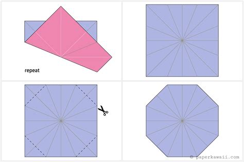 Origami Octagon - origami octagonal tato