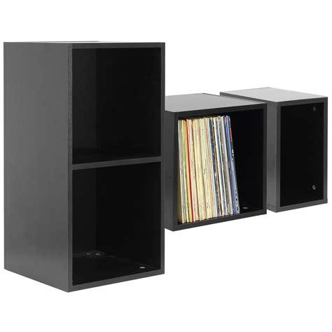 Lp Storage Cabinet Hartleys Black Vinyl Lp Record Storage Box Cube 12 Quot Dj Studio Cabinet Ebay