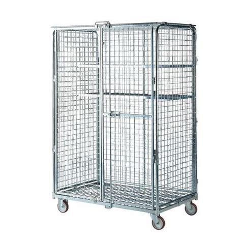 portata container roll container di sicurezza base in acciaio portata