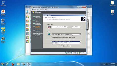 xp setup virtual host windows setup and install windows server 2003 on virtualbox youtube