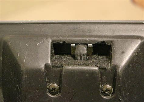 service manual install glove box latch in a 1997 mercury mystique adjust glove box latch