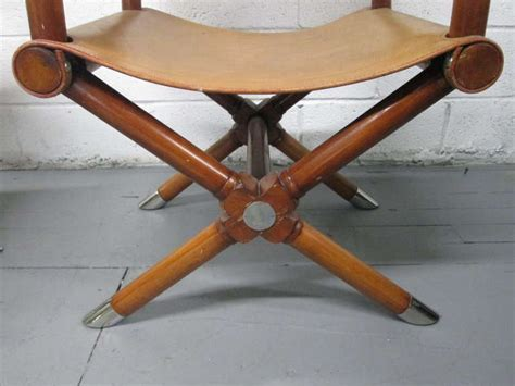 ralph leather directors chair pair of ralph leather director chairs at 1stdibs