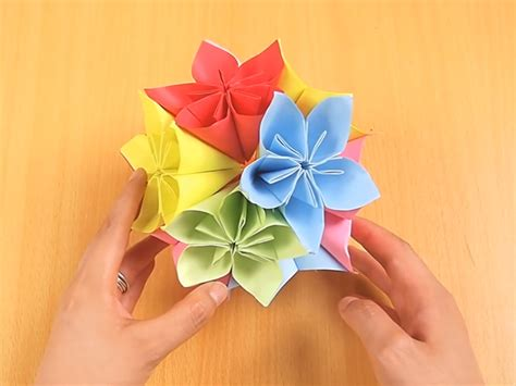 Origami Flower Balls - how to make a kusudama 12 steps with pictures