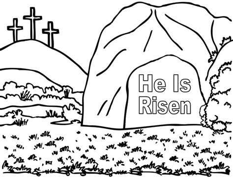 coloring page jesus empty tomb empty tomb 171 crafting the word of god