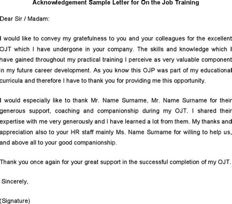 Acknowledgement Letter For Work Order acknowledgement letter templates free premium