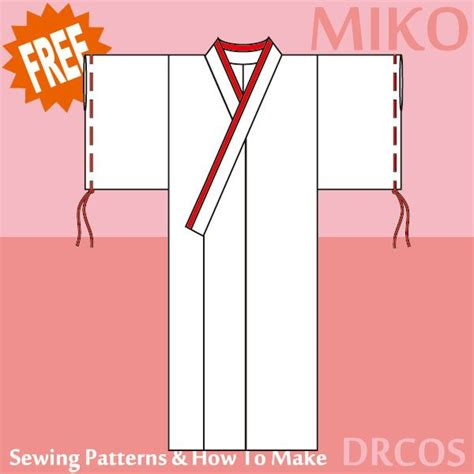 pattern for simple kimono kimono costume free japanese cosplay sewing pattern you
