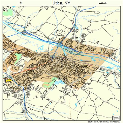 utica ny utica new york map 3676540