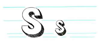 how to draw 3d letters s uppercase s and lowercase s in