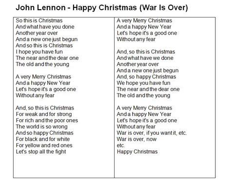 testo lennon lennon happy war is tekst