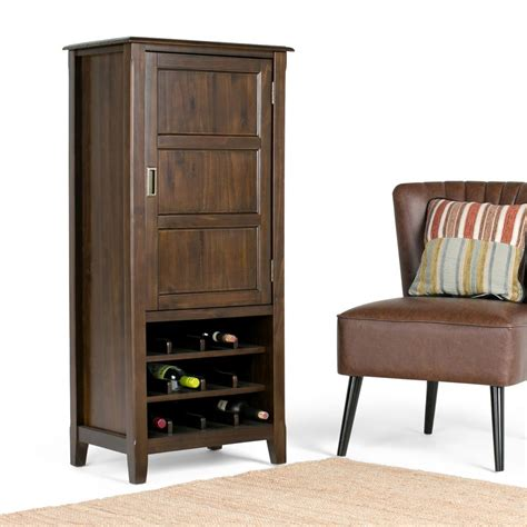 Espresso Bar Cabinet Simpli Home Burlington 12 Bottle Espresso Brown Bar Cabinet 3axcbur 006 The Home Depot