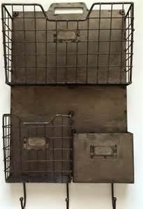 wall pocket organizer vintage style metal triple wall pocket organizer file