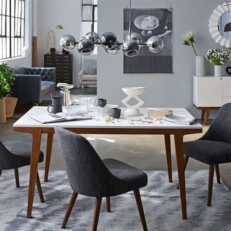 Large Dining Room Chairs by Modern Dining Table West Elm