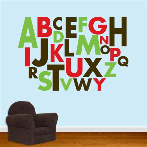alphabet wall mural alphabet wall decal by designed beginnings traditional wall decals by etsy