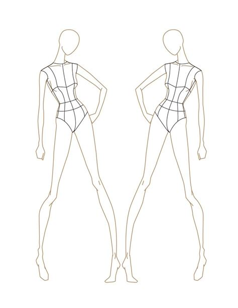 drawing templates for 22 best images about fashion figures on