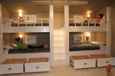 Four Bed Bunk Bed Bunk Beds Drawers Open Bunk Beds