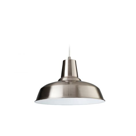 Brushed Steel Ceiling Lights Firstlight Smart Single Light Ceiling Pendant In Brushed Steel With A White Interior