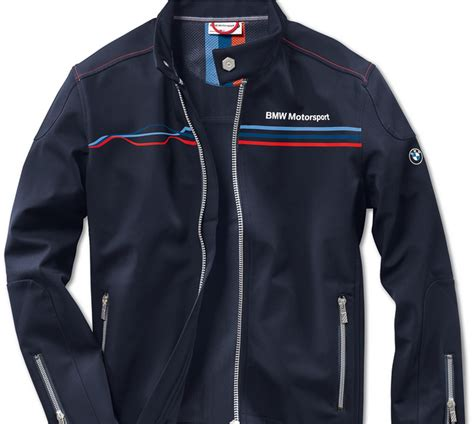 Light Windbreaker by Bmw Genuine Motorsport Mens Blue Soft Shell Zip Jacket