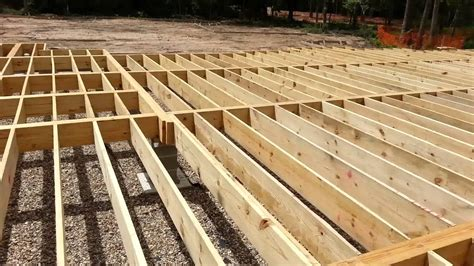 how to build a pier and beam floor gurus floor