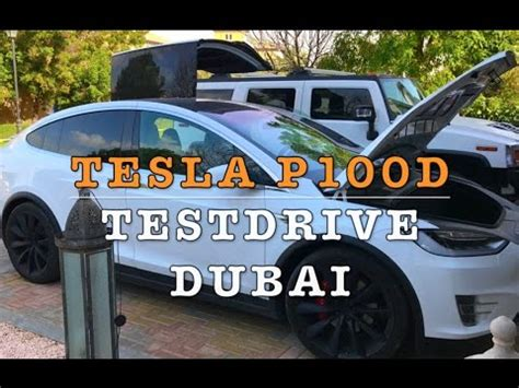 tesla model  pd testdrive  dubai youtube