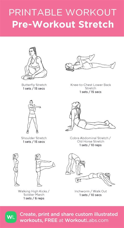 pre workout stretch health and fitness workout