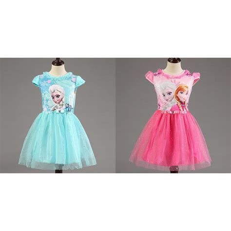 Dress Anak dress anak disney frozen size 7t blue jakartanotebook