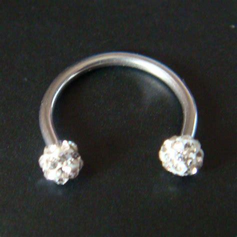 16g circular horseshoe lip rings barbell ear bar