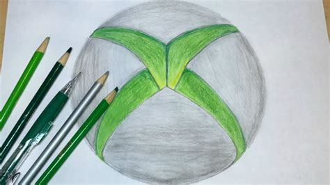 Drawing Xbox Logo by How To Draw The Xbox Logo Logo Drawing