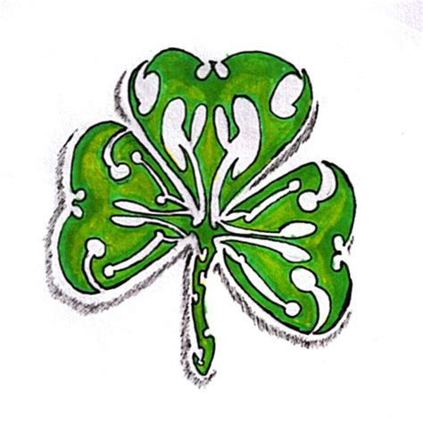 four leaf clover tribal tattoos tribal clover by myrddin89 on deviantart