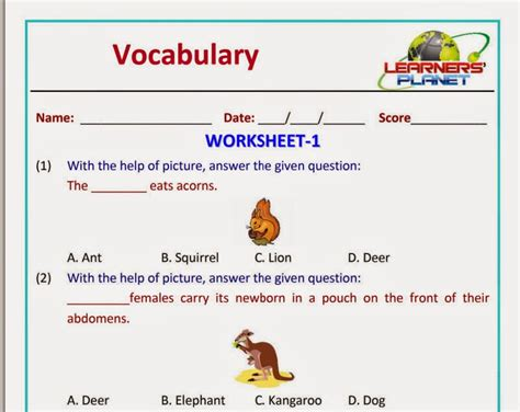 printable english worksheets for class 1 olympiad english vocabulary worksheet grade 1 learners