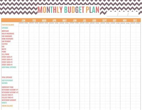 printable budget planner ireland free printable budget planner by month download or print
