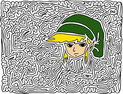 legend of zelda map maze mazes 187 nintendo by eric j eckert