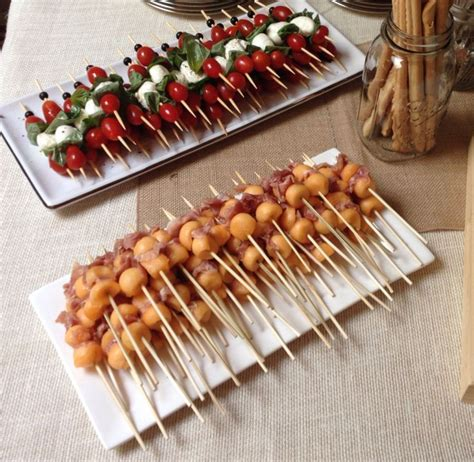 best bridal shower appetizers italian themed bridal shower prosciutto and melon and