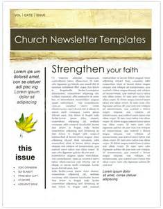 fall leaves church newsletter template template