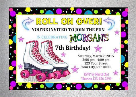 Skating Invitations Printables
