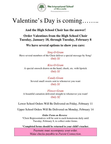 valentines day sequence s day order form 2011