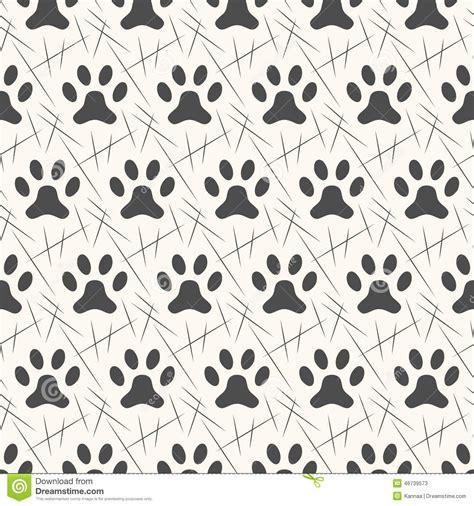 seamless animal pattern vector seamless animal pattern of paw footprint stock vector
