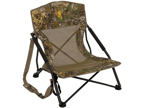 Turkey Lounger Folding Chair by Browning Strutter Low Profile Chair Realtree Xtra Camo