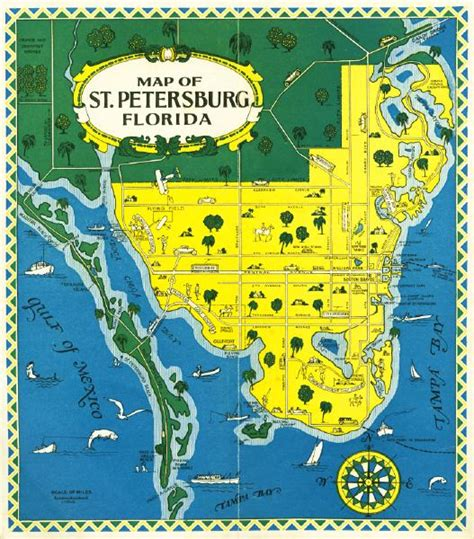 where is st petersburg florida on a map map of petersburg florida mid 1900s