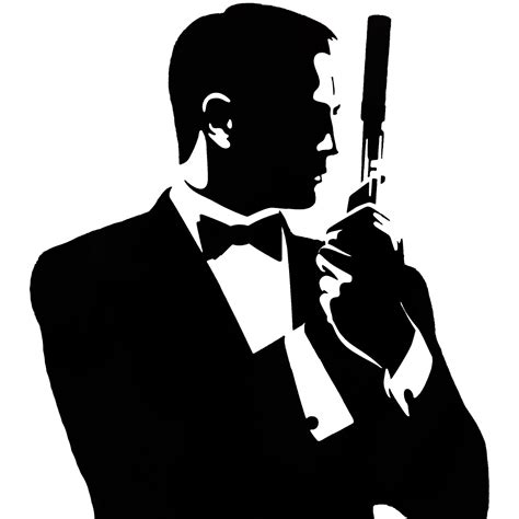 james bond silhouette james bond silhouette wallskid