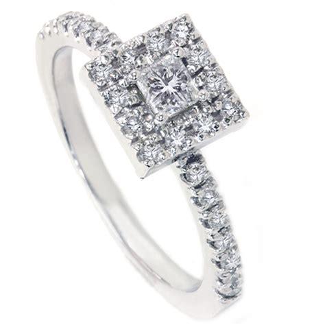 womens 1 2ct princess cut engagement ring 14k