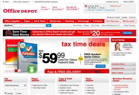 Office Depot Website by 10 Peculiarities Of Successful Retail Website Designs