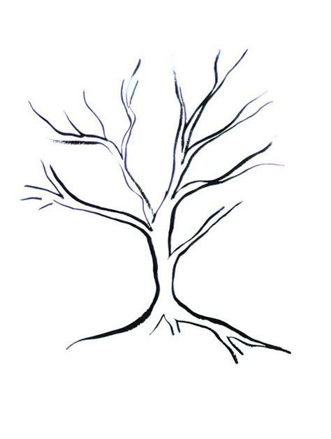 simple tree drawing tree simple pencil and in color tree simple