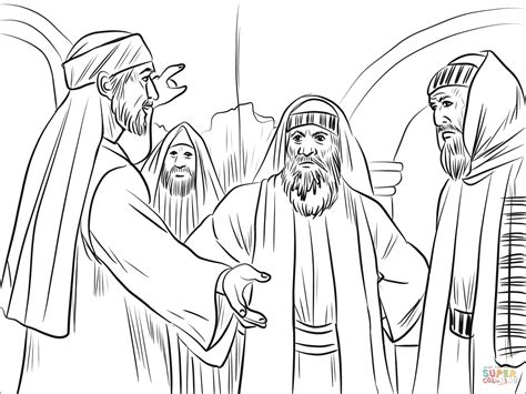coloring pages bible stephen members of synagogue argued with stephen coloring page