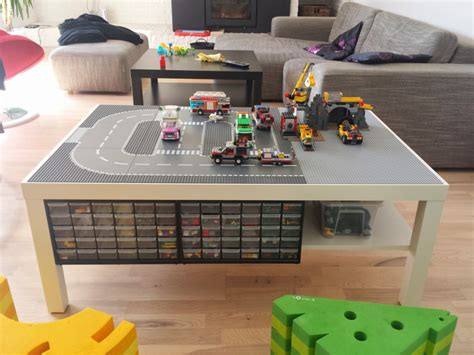 ikea lego table hack lack lego playtable with undertable storage ikea hackers