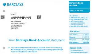 uk bank statement templates barclays introduce new look statements banking
